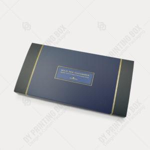 Carton Tray & Sleeve Box w/ Golden Foil-Blue