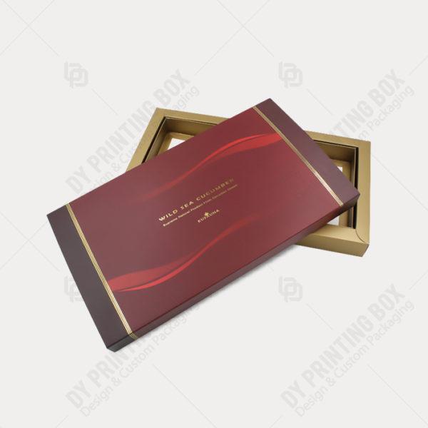 Carton Tray & Sleeve Box w/ Golden Foil-Open View