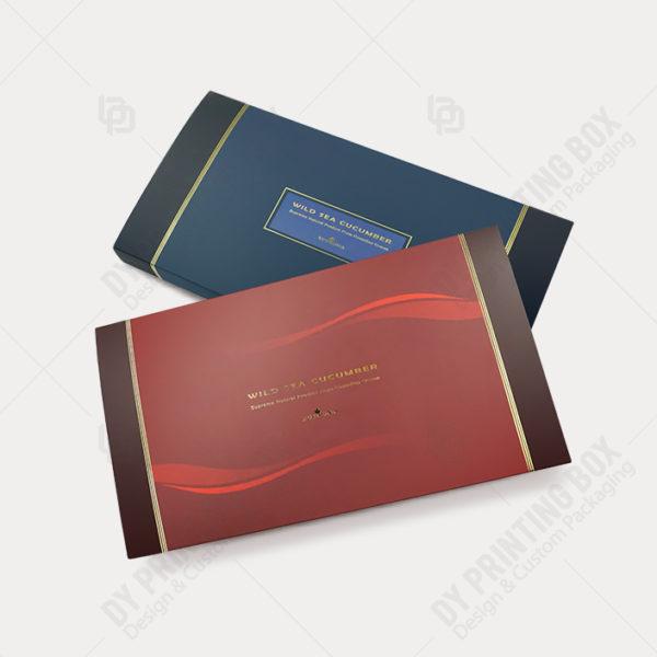 Carton Tray & Sleeve Box w/ Golden Foil-Top View