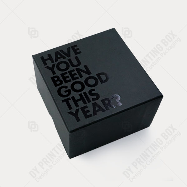 Black-Rigid-Box with black foil
