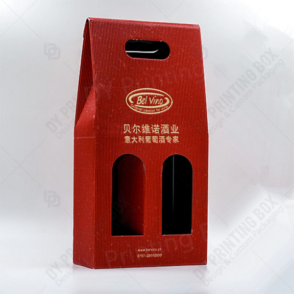 Corrugated-Two-Bottles-Wine-Box-Front View