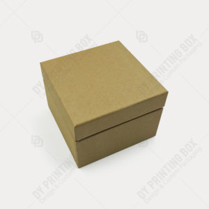 Kraft Lid & Tray Rigid Box with Shoulder