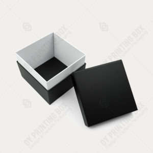 Black Lid & Tray Rigid Box with Shoulder