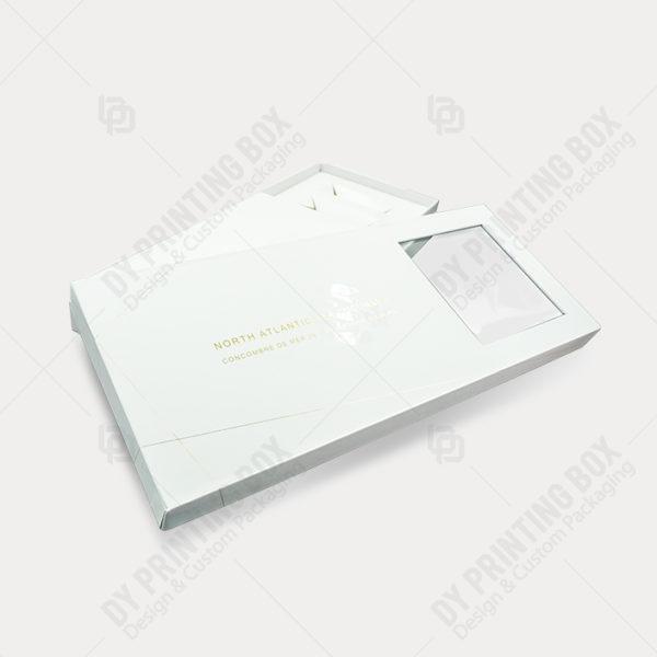 White Rigid Box with Hot Foil & Window