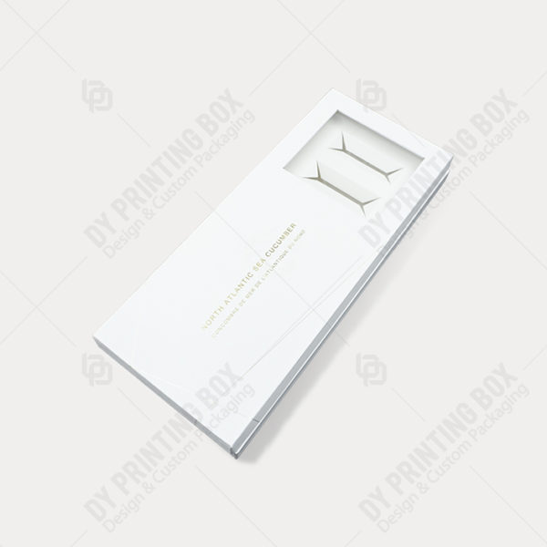 White Rigid Box with Hot Foil & Window-Top View