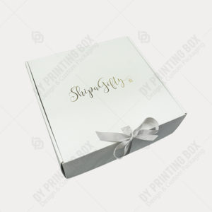 Custom Printed Corrugated box with Ribbon