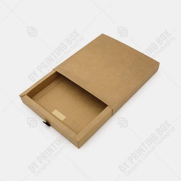 Kraft Paper Tray & Sleeve Box with-Open view
