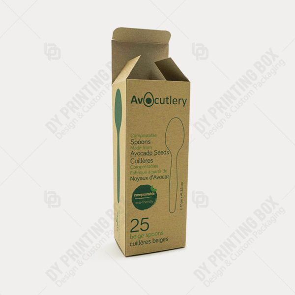 Recyclable Kraft Paper Box-Front View