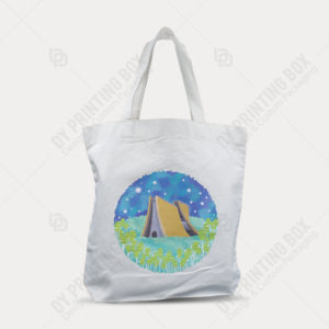 Cotton Canvas Bag with Heat Tranfer Printing