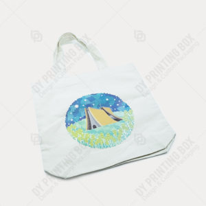 Cotton Canvas Bag with Heat Transfer Printing-Top View
